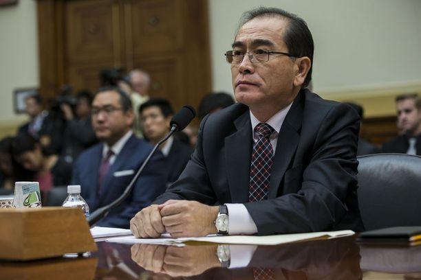 Vuosi sitten Etelä-Koreaan loikannut entinen apulaissuurlähettiläs Thae Yong-ho puhui USA:n edustajainhuoneen ulkoasiainvaliokunnalle keskiviikkona.