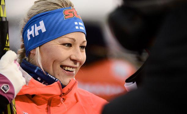 Anne Kyllönen sai SM-kultailoa vaikean kautensa loppumetreillä.
