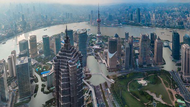 Kiinan Shanghaissa vesi yltäisi jo kahden asteen kohdalle kaupuniin.