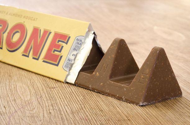 Toblerone on Sveitsistä kotoisin oleva suklaa.