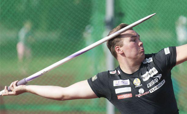 Teemu Narvi sijoittui keihäsfinaalissa kuudenneksi.