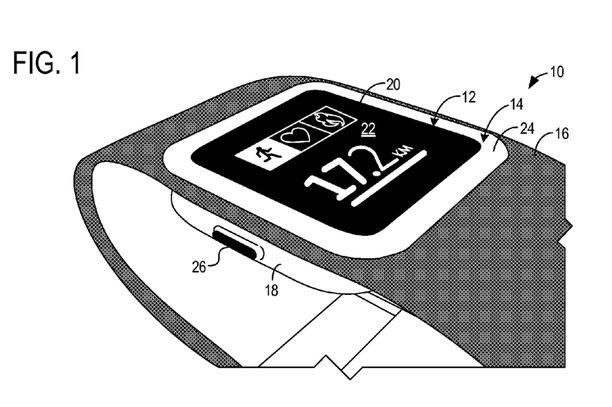 Microsoft on hakenut patenttia kuvassa näkyvälle älyrannekkeelle.