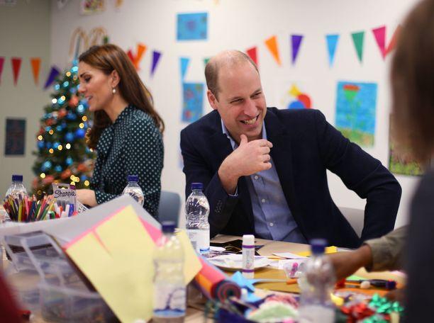Prinssi Williamilla oli hymy herkässä.