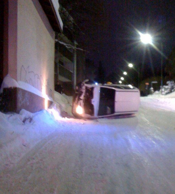 Liukas keli yllätti autoilijan Lappeenrannassa.