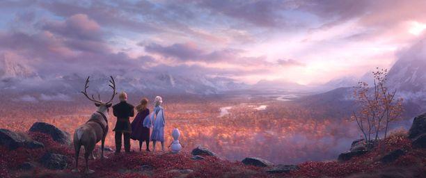 Elokuvassa on jylhiä lappimaisia maisemia.