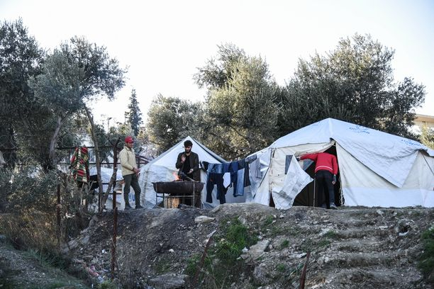 Kreikan pakolaisleiri vuonna 2017. Kuvituskuva.