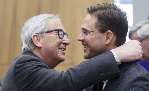 EU-komission puheenjohtaja Jean-Claude Juncker ja varapuheenjohtaja Jyrki Katainen
