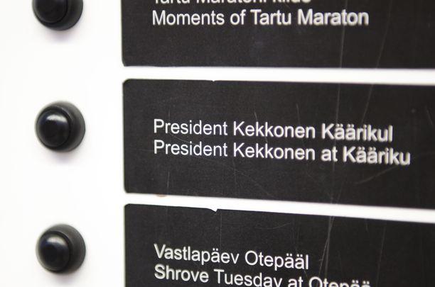 Otepään urheilumuseossa Virossa on Kekkos-nappi.
