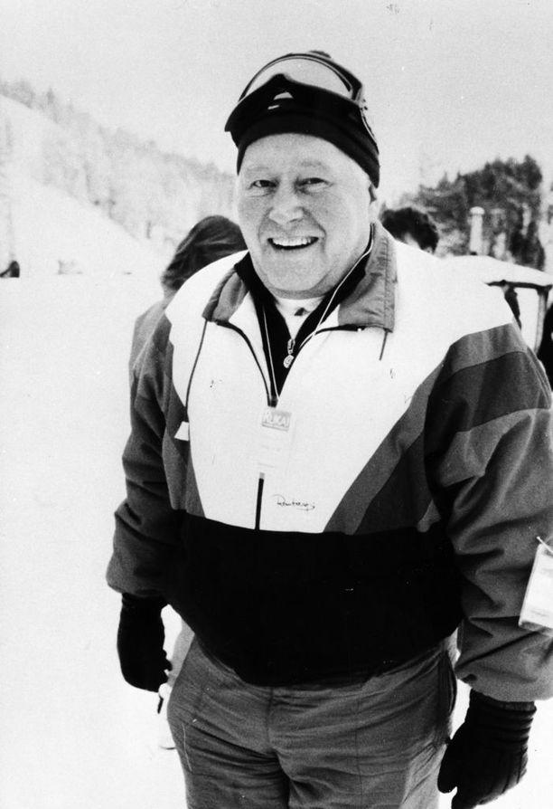 """Tällaisena monet hänet muistavat: Juhani """"Jussi"""" Aho elementissään Rukalla 30 vuotta sitten."""