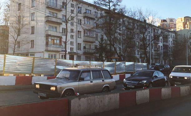 Moskovan Kravtsenko-kadun talot jyrätään maan tasalle vuodenvaihteessa.