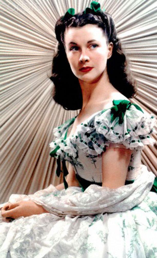 Vivien Leigh oli roolissaan Tuulen viemää -elokuvan Scarlet OŽHarana kaunis, mutta nyrpeäilmeinen.
