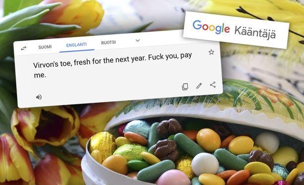 Virpomisloru ei taitu Google-kääntäjältä.