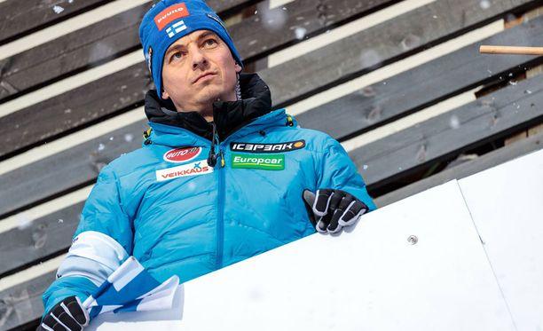 Andreas Mitter ei sulattanut lähtölavan nostamista Planicassa.