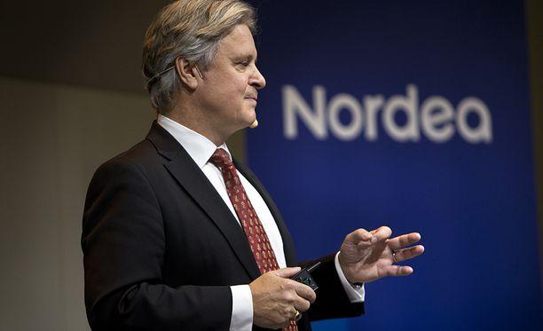 Kuvassa Nordean toimitusjohtaja Casper von Koskull.