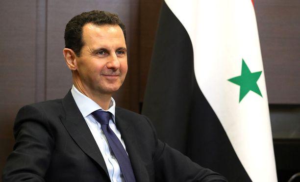 Bashar al-Assad kuvattuna toukokuussa Sotšissa tapaamisella Venäjän presidentti Vladimir Putinin kanssa.