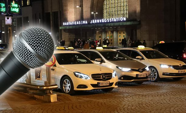 Taksi Helsinki käyttää ääntä tallentavia valvontakameroita. Tietosuojalainsäädäntö edellyttää toiminnalta huolellisuutta. Kuvituskuvat.