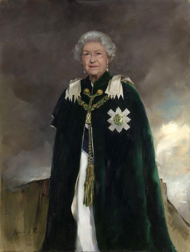 Kuningatar ikuistettiin maalaukseen.