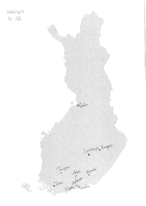 Nain Helsingissa Sijoitettiin Suomen Suurimmat Kaupungit Kartalle