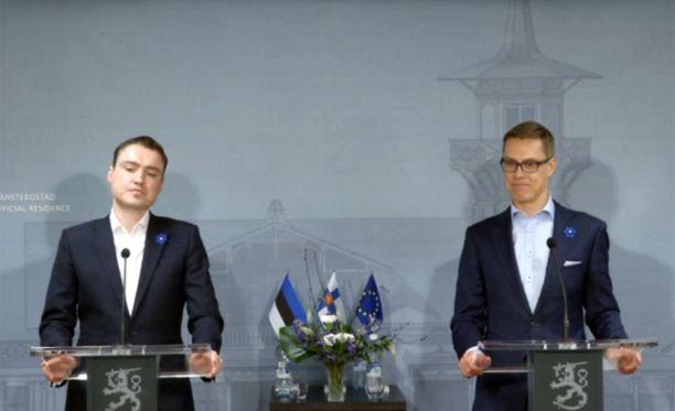 Viron tuore pääministeri Taavi Rõivas ja Suomen pääministeri Alezander Stubb tapasivat tiistaina Helsingissä, pääministerin virka-asunnolla Kesärannassa.