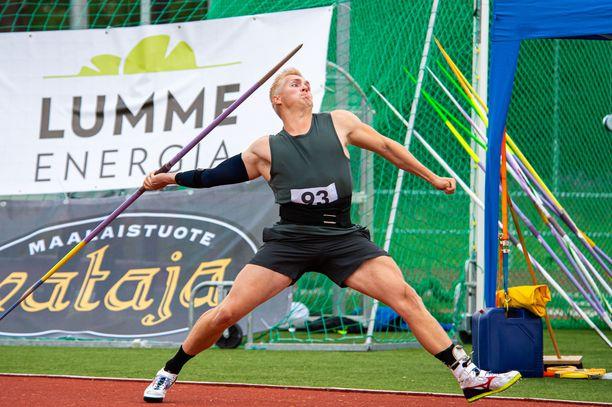 Toni Kuusela heitti Lahden Motonet GP-kisassa 77,29 metriä.