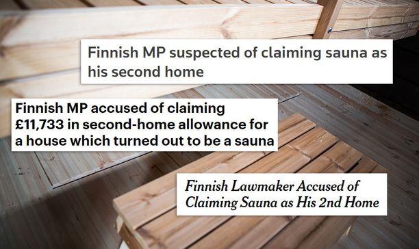Tunnetut lehdet kertovat suomalaiskansanedustajien saunasotkusta.