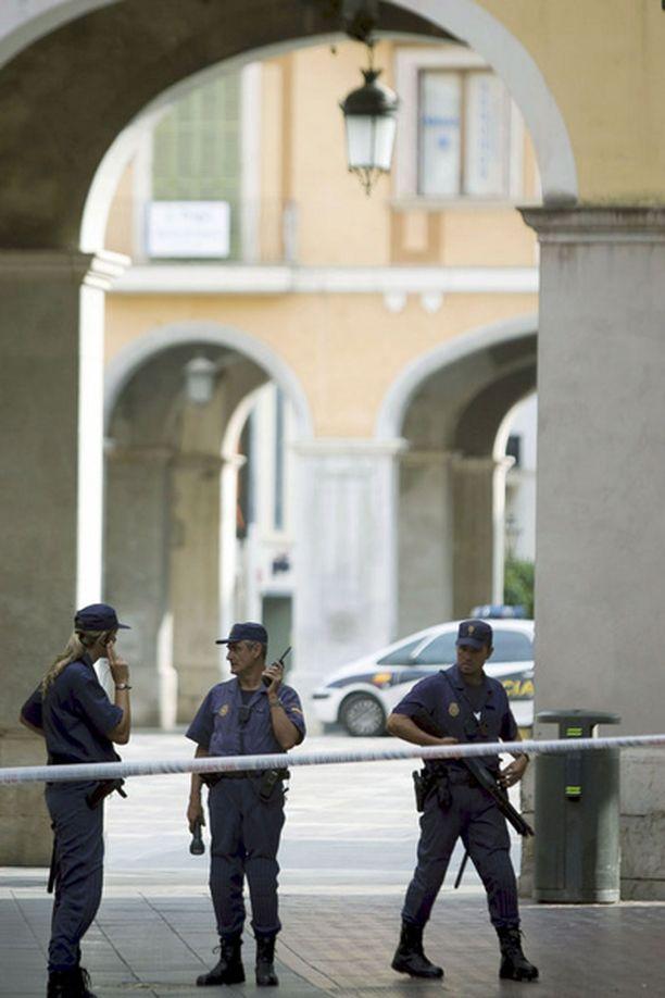 Kolmas räjähdys tapahtui Palman keskusaukion alla sijaitsevassa ruokakaupassa.