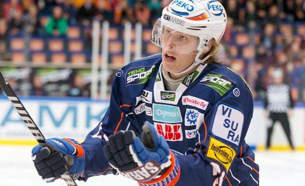 Patrik Laine pelaa Tapparassa läpimurtokautta.