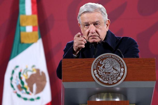 López Obrador on ilmoittanut saavansa koronavirusrokotteen maaliskuun keskivaiheilla.