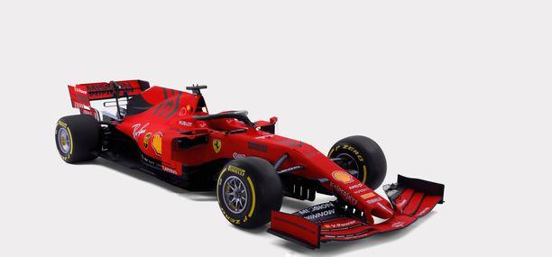 Ferrarin F1-autoissa ei ole koskaan aiemmin ollut vastaavanlaista maalipintaa.