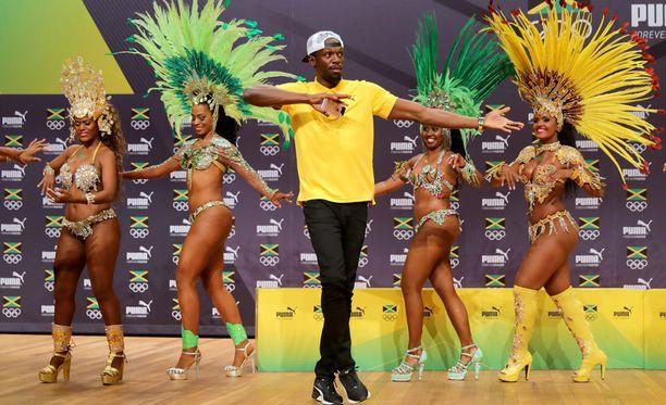 Usain Bolt on tunnettu letkeästä lantiostaan.
