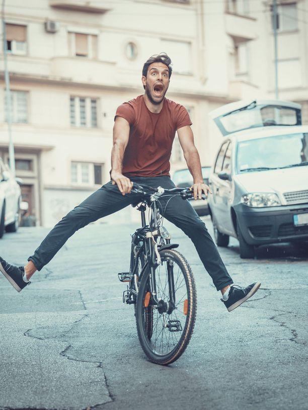 Vau! Kyllä pyöräily on hauskaa!