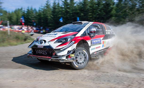 Toyotan Jari-Matti Latvala on yksi MM-sarjan suomalaiskuskeista.