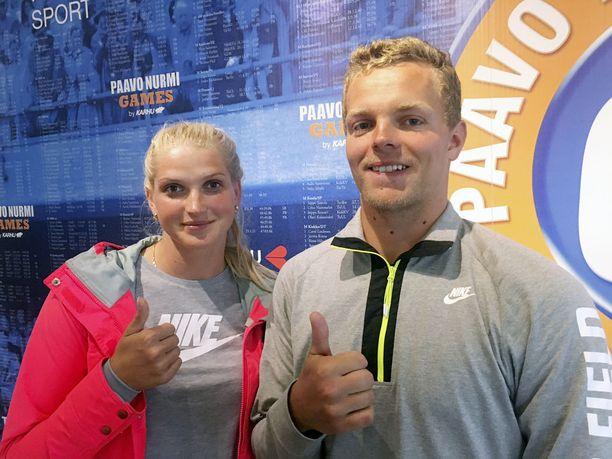 Latvialaiset keihäänheittäjät Lina Muze ja Zigismunds Sirmais ovat seurustelleet pari vuotta. He asuvat Riikassa.