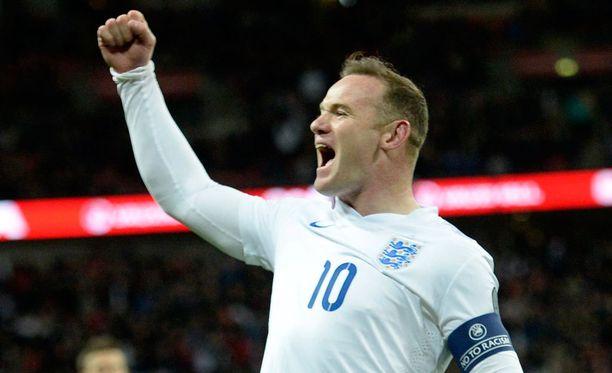 Wayne Rooney juhli viime viikolla Liettuaa vastaan.