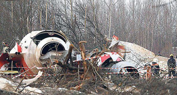 Lech Kaczynskia kuljettanut puolalainen lentokone tuhoutui pudottuaan Smolenskin lentokentän lähistölle viime lauantaina.