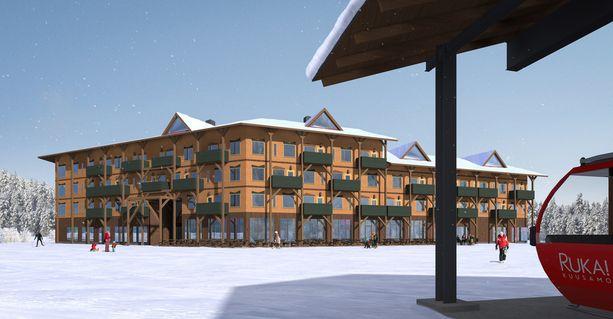 Ensimmäisenä uuteen kylään rakennetaan hotelli.