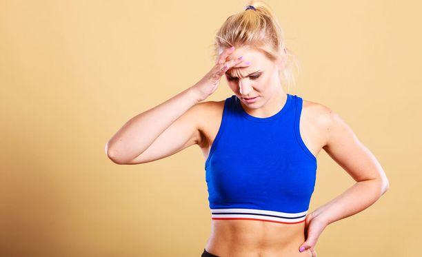 Liian kova treeni altistaa vammoille, ja ylikunto uhkaa jos palautumiselle ei jää tarpeeksi aikaa.