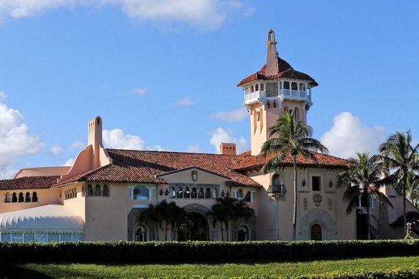 Kuvassa presidentti Donald Trumpin luksushuoneisto Mar-a-Lagossa Palm Beachilla Floridassa.