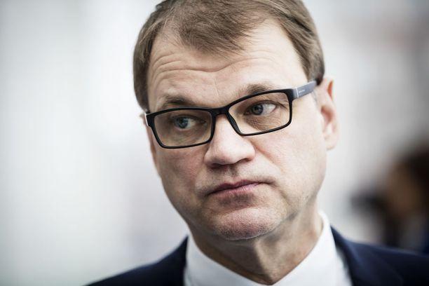 Pääministeri Juha Sipilä (kesk) eli tuttavallisemmin Kempeleen kerubi.