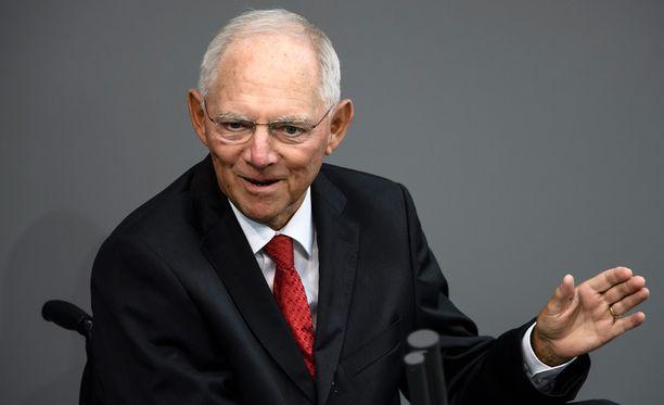 Schäuble, 75, on toiminut valtiovarainministerinä liittokansleri Angela Merkelin hallituksissa vuodesta 2009.