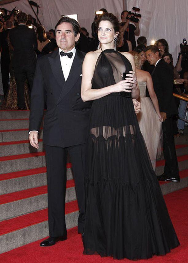 Seymour osallistui gaalaan yhdessä miehensä Peter Brantin kanssa.