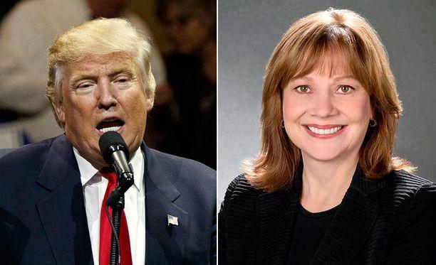 Donald Trump nimitti asiantuntijatiimiinsä suomalaissukuisen General Motorsin toimitusjohtajan Mary Barran.