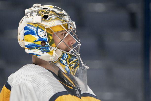 Juuse Saros muistutti, että verottaja seuraa tarkasti NHL-pelaajien oleskelupäiviä Suomessa.