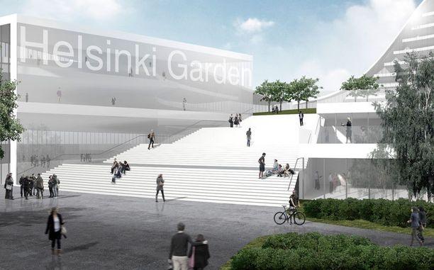 Tältä tulee näyttämään Helsinki Gardenin sisäänkäynti.
