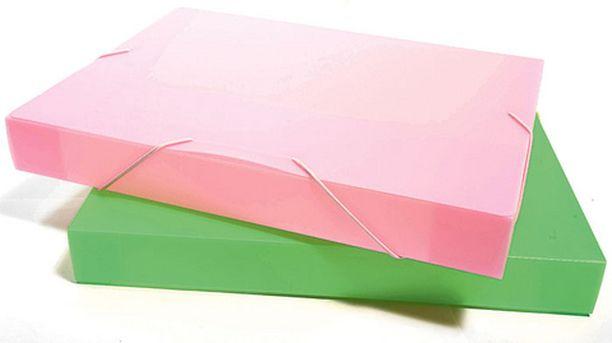 Laitteiden käyttöohjeet voi pakata kulmalukkokoteloon. Eri värisissä koteloissa voi olla vaikkapa eri huoneiden laitteiden ohjekirjat.