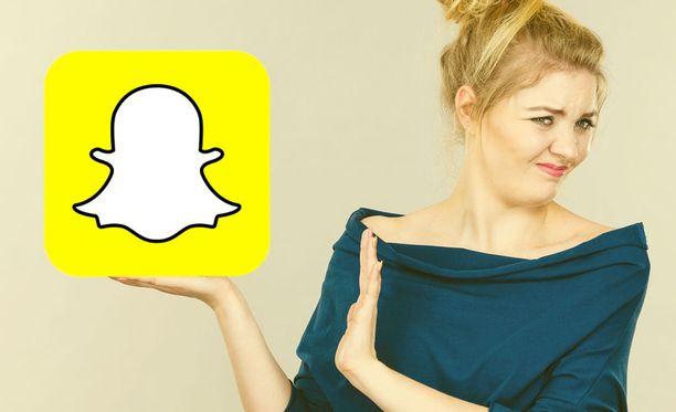 Kolme miljoonaa päivittäistä käyttäjää on jättänyt Snapchatin. Kuvituskuva.