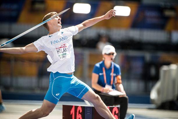 Oliver Helander heitti viime kaudella ennätyksensä 88,02.