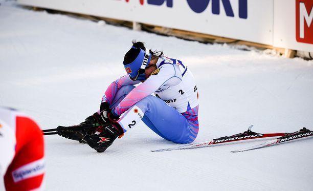 Krista Pärmäkoski joutui toteamaan norjalaiset paremmiksi 30 kilometrillä.