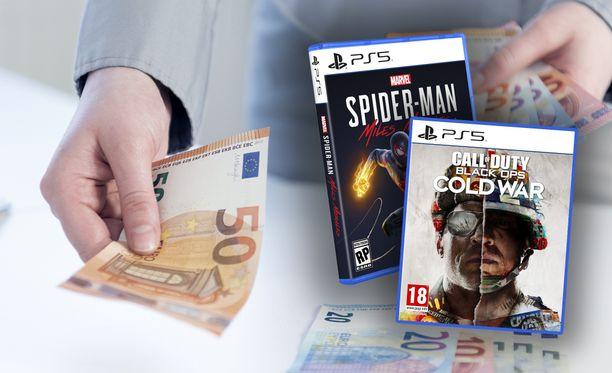Playstation 5 -peleistä saattaa joutua maksamaan kympin enemmän.