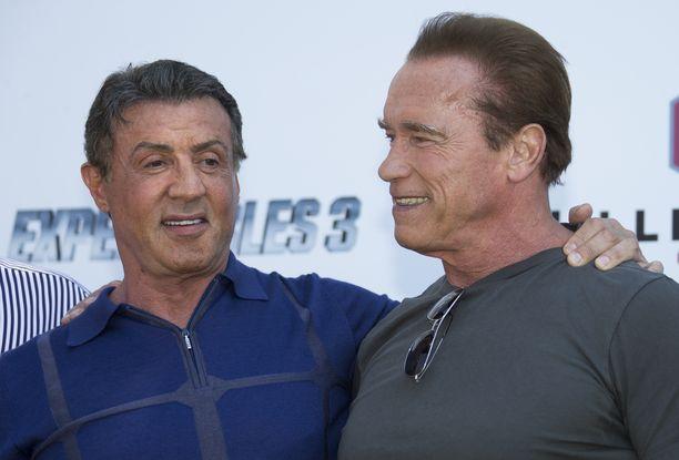 Sylvester Stallone ja Arnold Schwarzenegger näyttelivät yhdessä Expendables -elokuvissa.